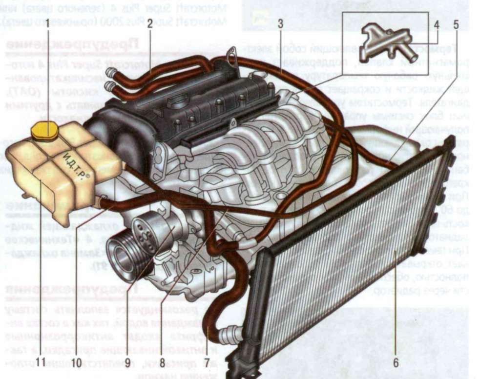 48 Ford Fusion Форд устройство системы охлаждения двигателя 3 Система охлаждения автомобиля Форд Фьюжен: 1...