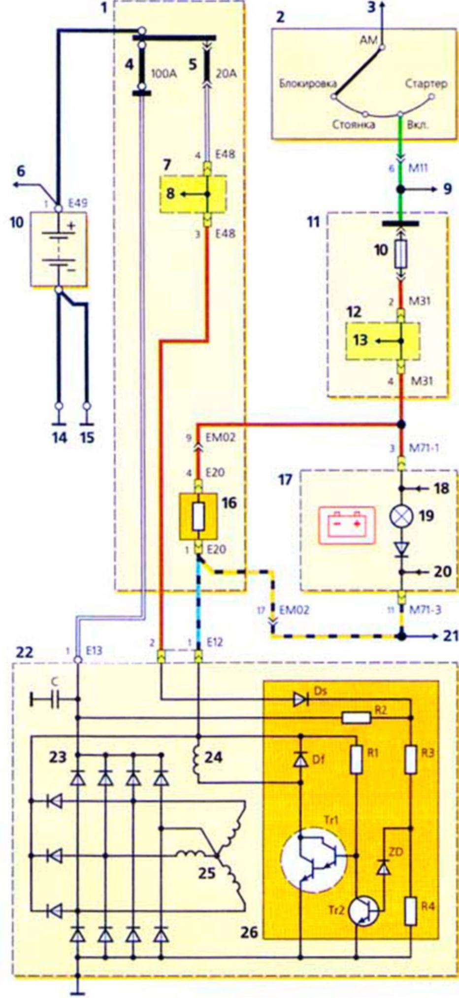 Схема соединения vga с s