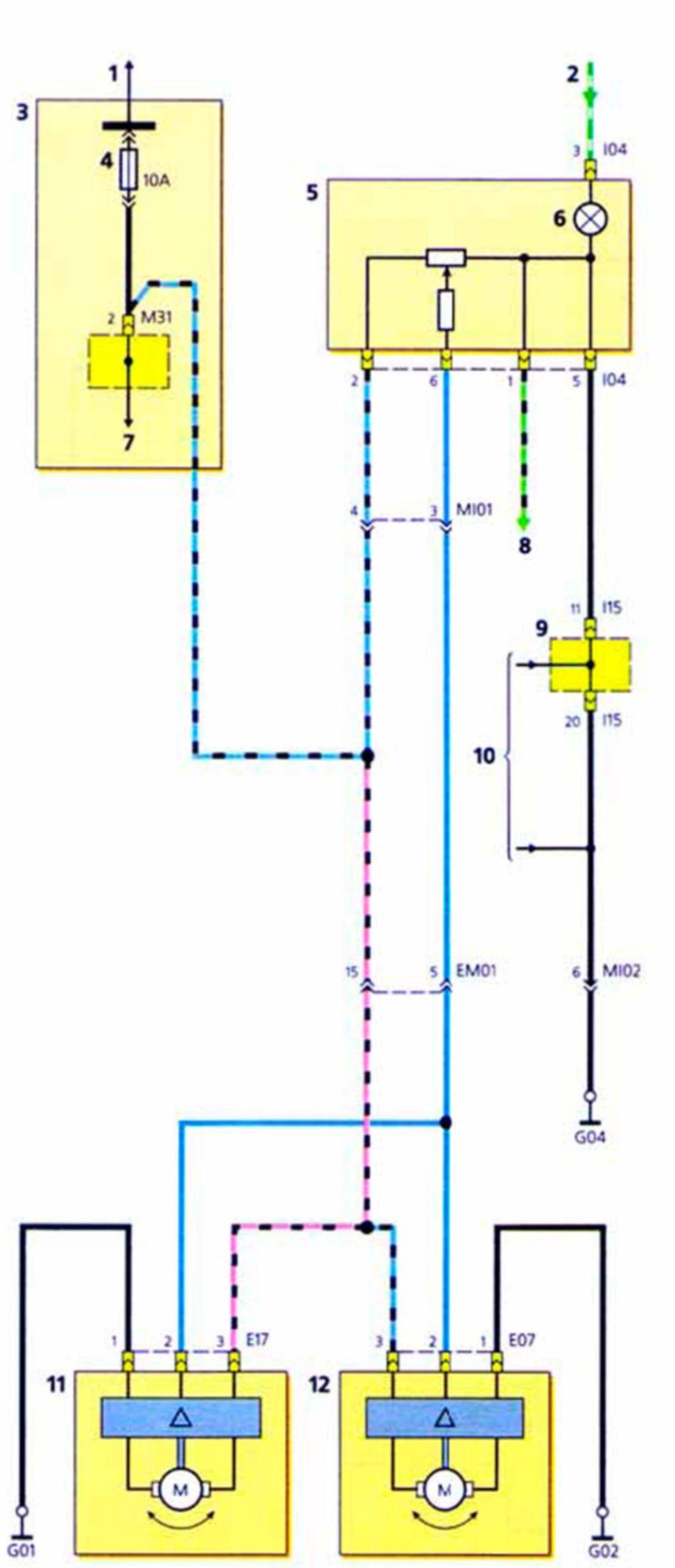 Электрическая принципиальная схема искателя