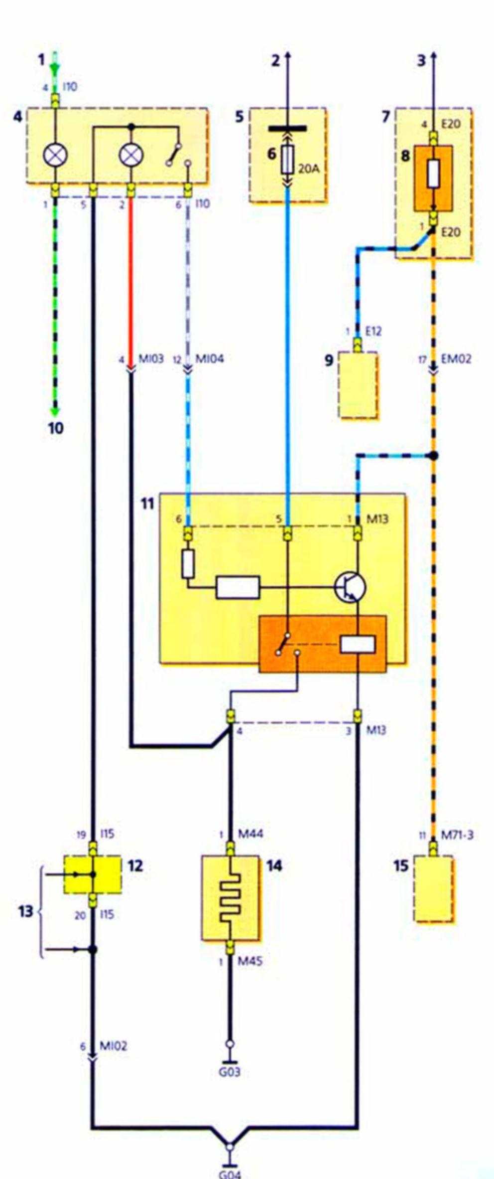 Схема отопления хундай акцент