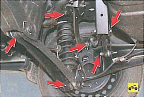 Ремонт подвески лансер 9