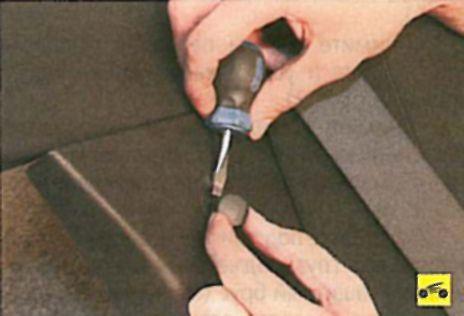 Снятие и установка телескопической стойки задней подвески - Мицубиси