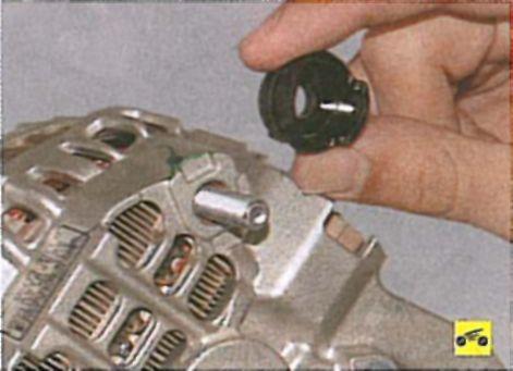 Замена подшипника генератора лансер 9 16 л своими руками 34