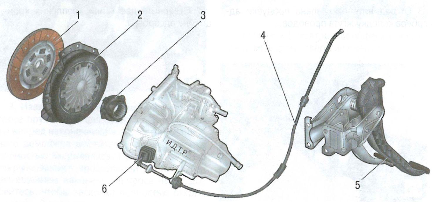Схема сцепление логан 2