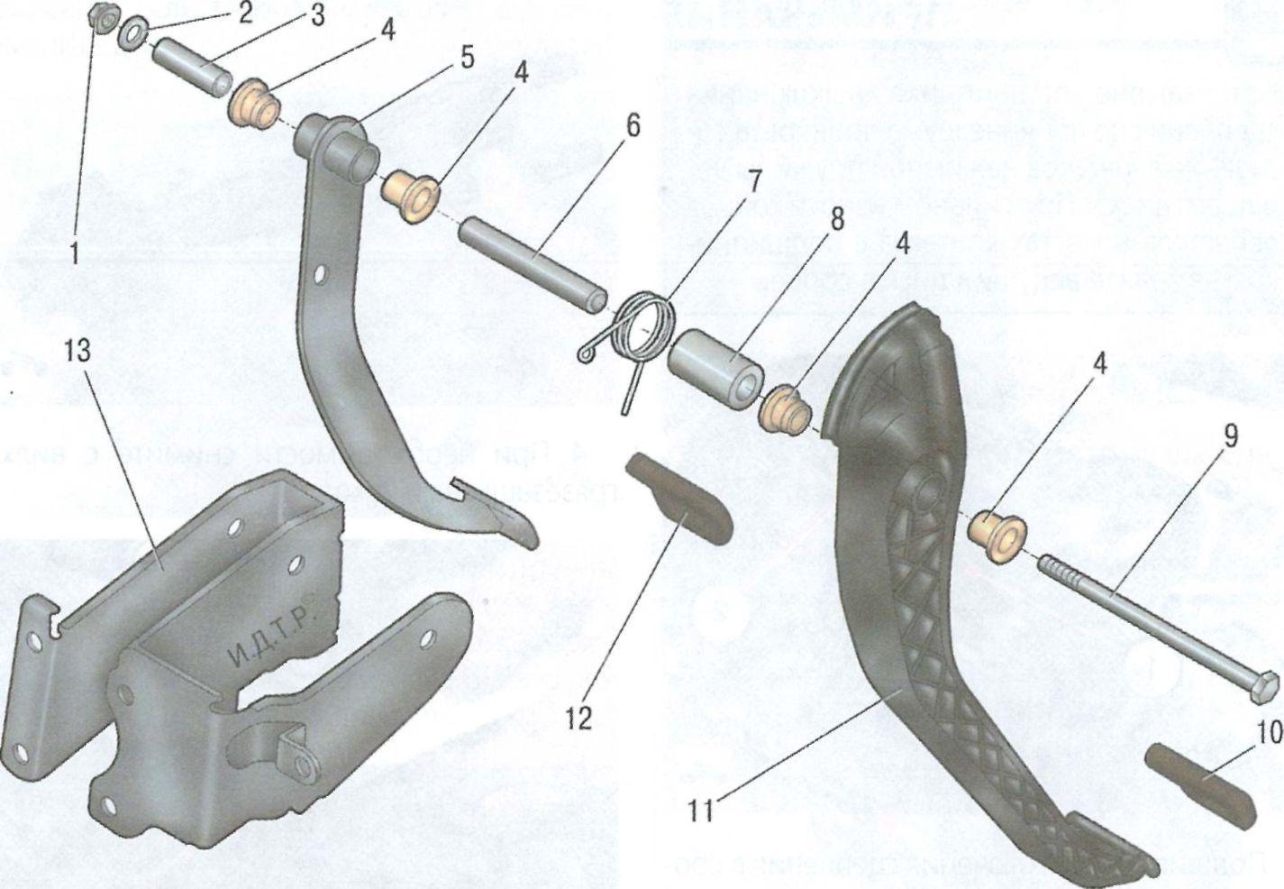 Схема вилки сцепления газ 2410