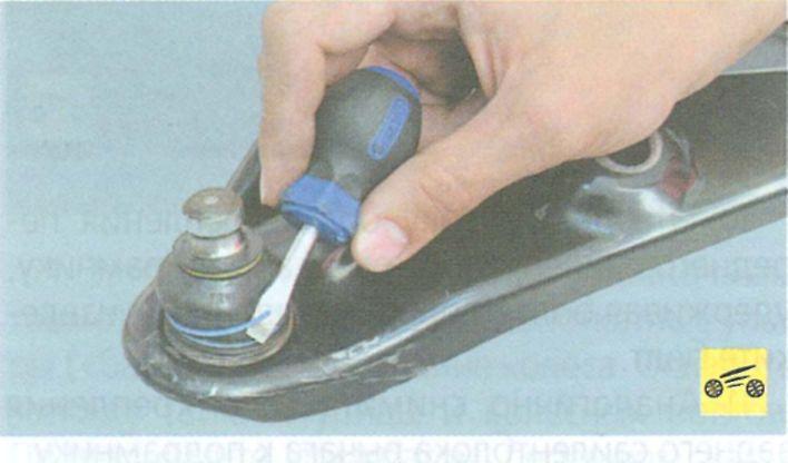 Замена шаровой опоры на рено логан своими руками