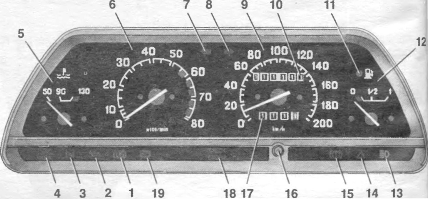 Фото №3 - обозначения панель приборов ВАЗ 2110