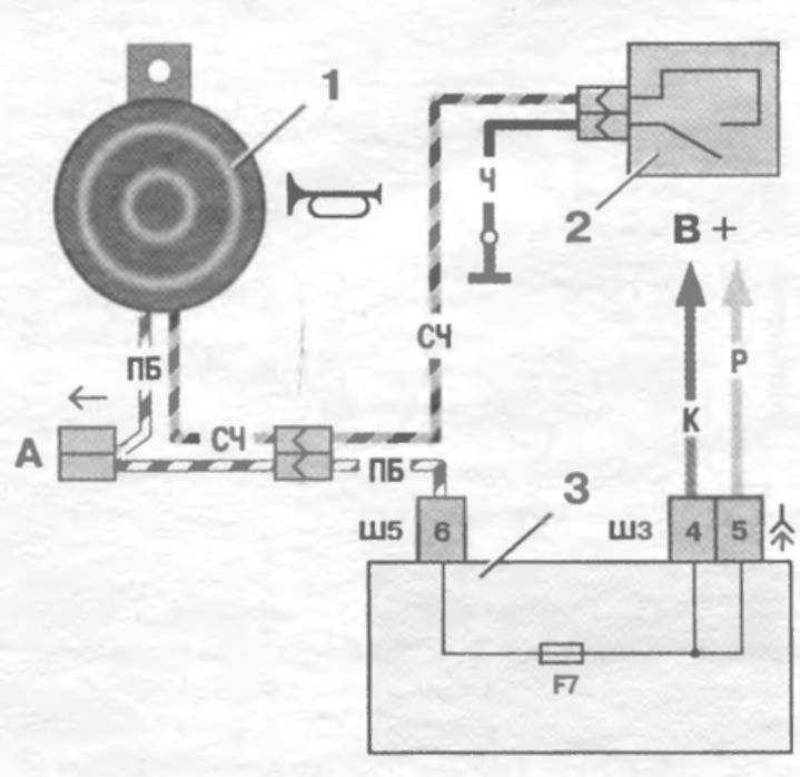 Схема электрическая ваз 2110 от включения зажигания находятся цепи звукового сигнала Ваз 2109 ваз 2110 волга уаз 3163...