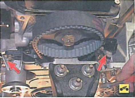 Замена ремня и натяжного ролика привода газораспределительного механизма - Мицубиси Лансер 9 (Mitsubishi Lancer) .